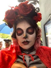 Spooky vampire skull
